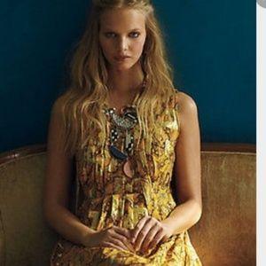 Anthropologie HD in Paris Goldspun Paisley dress